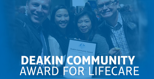 Deakin Community Award for LifeCare